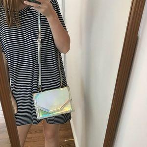 Handbags - Silver Holographic Bag